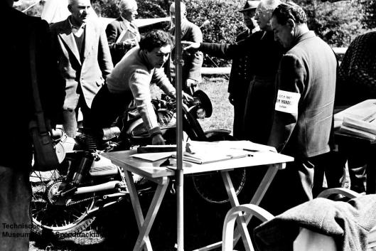 photo - #57 Olga V Kevelos Barilla 100 at the start venue ISDT 1952 (© Artur Fenzlau/Technisches Museum Wien)