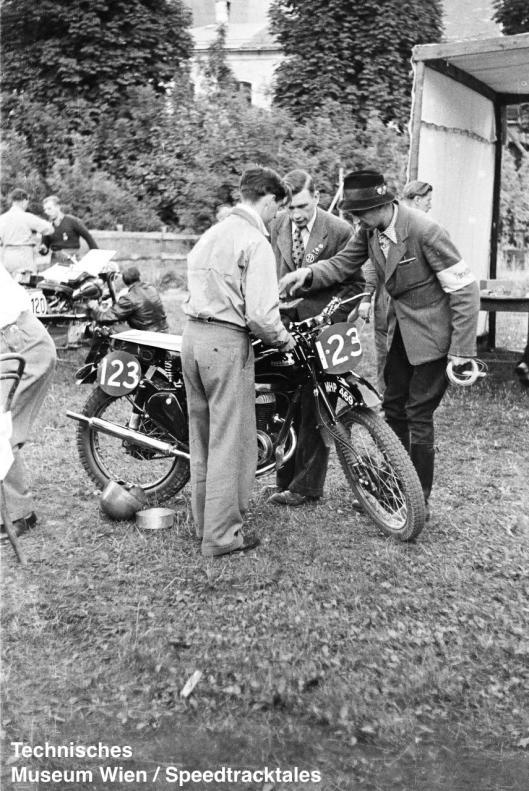 photo - #123 A Schutt, Francis Barnett [MHP649] ISDT 1952 (© Artur Fenzlau/Technisches Museum Wien)