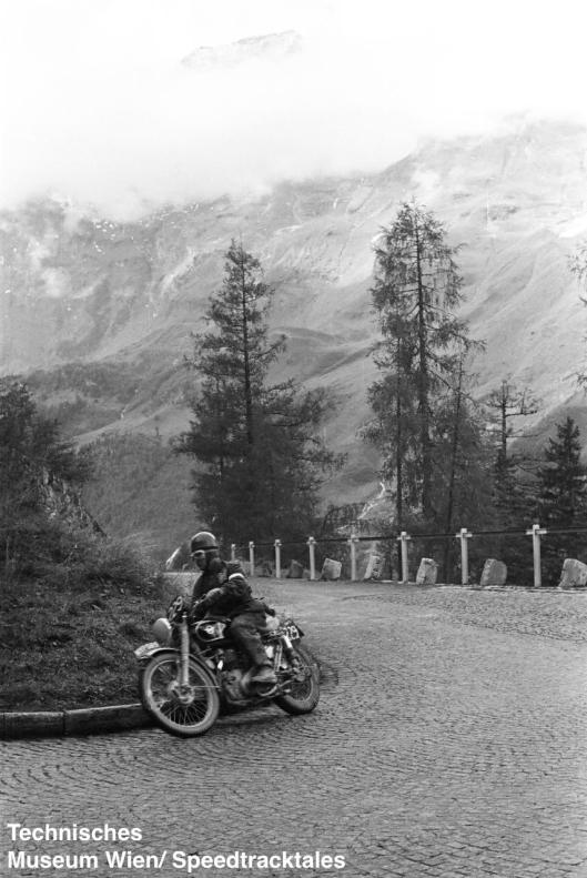 photo - #229 R Clayton, Matchless 498 on course ISDT 1952 (© Artur Fenzlau/Technisches Museum Wien)