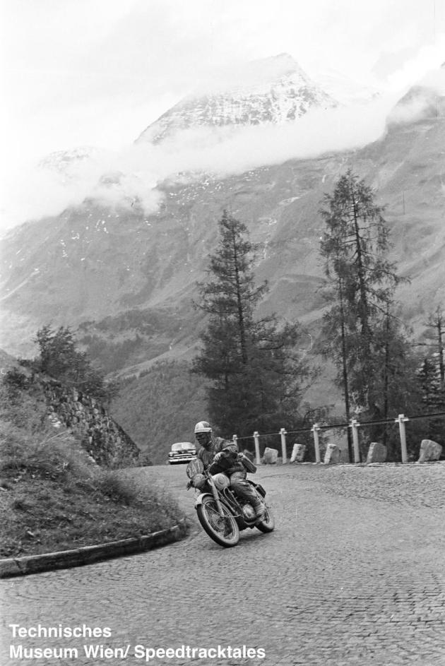 photo - #247 Sgt. V Monk works BSA Gold Star 500cc - Großglockner Pass ISDT 1952 (© Technisches Museum Wien - Erwin Jelinek)