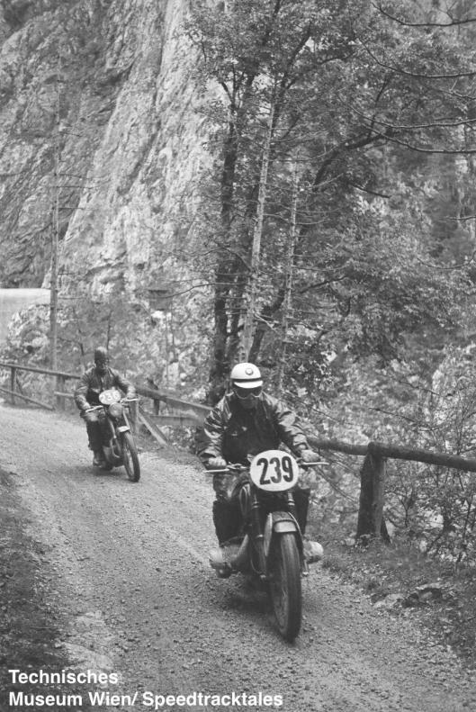 photo - #236 PJ Mellers Ariel 498 & #239 Hans Roth BMW 590cc ISDT 1952 (© Artur Fenzlau/Technisches Museum Wien)