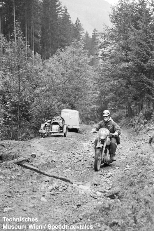 photo - #193 Fred Rist BSA 497cc [MOL 301] on course ISDT 1952 (© Artur Fenzlau/Technisches Museum Wien)