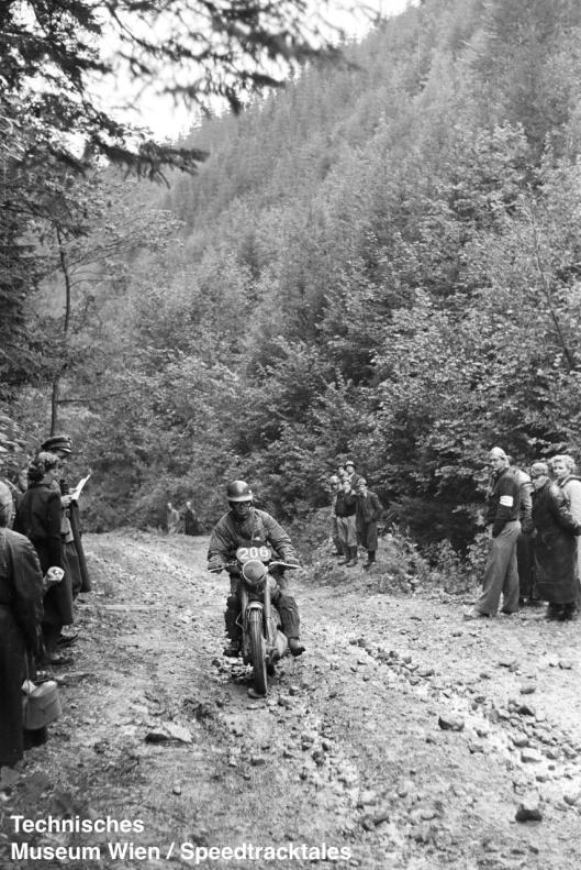 photo - #206 DS Evans Royal Enfield 496cc on course ISDT 1952 (© Artur Fenzlau/Technisches Museum Wien)