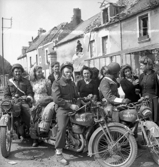 Photo - British DR's in Europe after liberation WW2