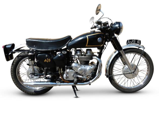 Photo - Works AJS 498 of Hugh Viney ISDT 1953 (Courtesy Bonhams)