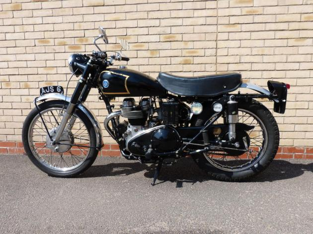 Photo - Works AJS 498 of Hugh Viney LH Side view ISDT 1953 (Courtesy Bonhams)