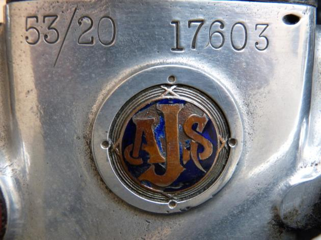 Photo - Detail of Crank case [AJS 6] Works AJS 498 of Hugh Viney ISDT 1953 (Courtesy Bonhams)